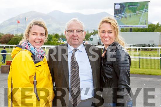 Deirdre Foran Billy Kenny and Elaine Jeffries Killarney at  the Killarney races on Sunday