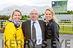 Deirdre Foran Billy Kenny and Elaine Jeffries Killarney at  the Killarney races on Sunday