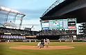 Ichiro Suzuki (Yankees),<br /> JUNE 6, 2013 - MLB :<br /> Ichiro Suzuki of the New York Yankees bats during the Major League Baseball game against the Seattle Mariners at Safeco Field in Seattle, Washington, United States. (Photo by AFLO)