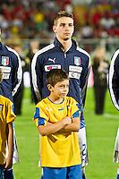 PESCARA (PE) 12/10/2012: QUALIFICAZIONE EUROPEI UNDER 21 ITALIA - SVEZIA. PARTITA VINTA DALL'ITALIA CON UN GOAL DI IMMOBILE. NELLA FOTO DE SCIGLIO ITALIA  FOTO ADAMO DI LORETO