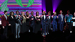 The cast performing at the Dramatists Guild Foundation toast to Stephen Schwartz with a 70th Birthday Celebration Concert at The Hudson Theatre on April 23, 2018 in New York City.