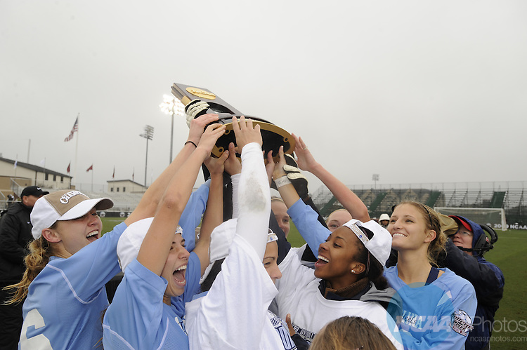 06 DEC 2009:  The University of North Carolina takes on Stanford University during the Division I Women's Soccer Championship held at Aggie Soccer Stadium on the Texas A&M University campus in College Station, TX.  North Carolina defeated Stanford 1-0 for the national title.  Brett Wilhelm/NCAA Photos