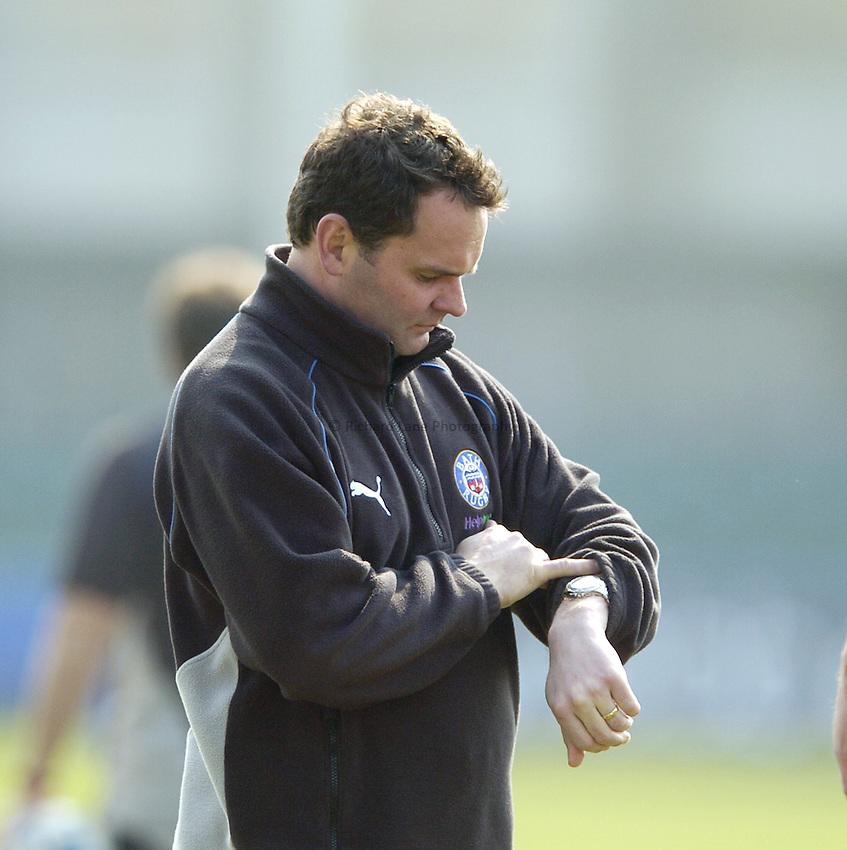 Photo: Jonathan Butler..Bath Rugby v Bristol Rugby. European Challenge Cup. 31/03/2007..Steve Meehan Bath head coach.
