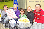 COLLECTION: Parents from Knockanure school who are holding a fundraising used clothes collection to raise money for school projects, l-r: Eamon White, Elizabeth Brosnan, Lesley O'Sullivan, Nuala Keane, Declan O'Connor.