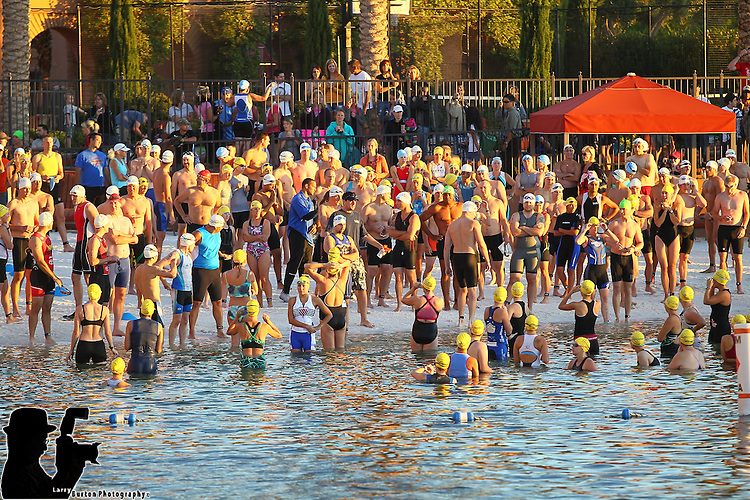 The Amica Lake Las Vegas Triathlon offerd two triathlons for racers. The Sprint Distance is made up of a 0.5 mile swim, 16.1 mile bike, and 3.1 mile run for a total of 19.7 miles. The Intermediate Distance consists of a 1500m swim, 25 mile bike, and a 6 mile run.<br /> The swim start and finish at Loews Lake Las Vegas. The bike course leaves the resort and rolls into the Lake Mead National Recreation Area and back. The run tours a bit of the resort then runners  headed out into the desert and back to finish at The Village.