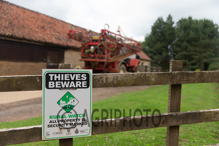 20.6.2020 Thieves beware sign <br /> ©Tim Scrivener Photographer 07850 303986<br />      ....Covering Agriculture In The UK.