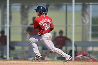 Boston Red Sox Jordan Procyshen (34) during a minor league spring training game against the Baltimore Orioles on March 18, 2015 at Buck O'Neil Complex in Sarasota, Florida.  (Mike Janes/Four Seam Images)