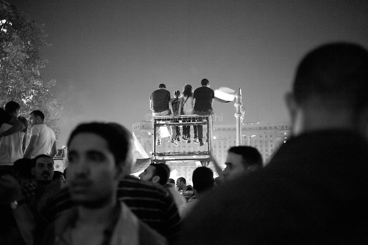 Egypt/ Cairo / 24.6.2012 / People in Tahrir Square celebrate Mohamed Morsi becoming the new President of Egypt. June 24th, 2012. Cairo, Egypt.  <br /> <br /> © Giulia Marchi