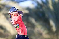 Adri Arnaus (ESP) on the 14th tee during the 2nd round of the Abu Dhabi HSBC Championship, Abu Dhabi Golf Club, Abu Dhabi,  United Arab Emirates. 17/01/2020<br /> Picture: Fran Caffrey   Golffile<br /> <br /> <br /> All photo usage must carry mandatory copyright credit (© Golffile   Fran Caffrey)