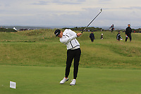 Ryan Smith (AM) playing with Tony Finau (USA) on the 15th tee during Round 4 of the Alfred Dunhill Links Championship 2019 at St. Andrews Golf CLub, Fife, Scotland. 29/09/2019.<br /> Picture Thos Caffrey / Golffile.ie<br /> <br /> All photo usage must carry mandatory copyright credit (© Golffile | Thos Caffrey)