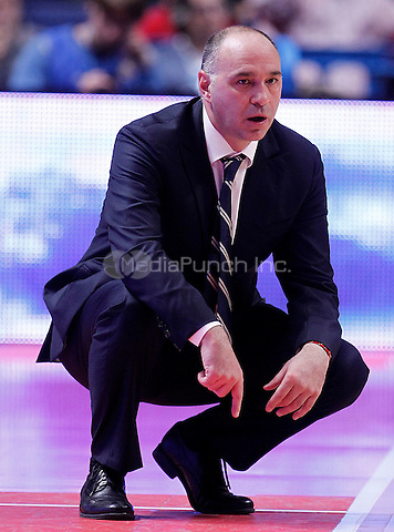 Real Madrid's coach Pablo Laso during Euroleague 2012/2013 match.November 1,2012. (ALTERPHOTOS/Acero) /NortePhoto /MediaPunch Inc. ***FOR USA ONLY***