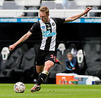 Newcastle United's Sean Longstaff shoots at goal <br /> <br /> Photographer Alex Dodd/CameraSport<br /> <br /> FA Cup Quarter-Final - Newcastle United v Manchester City - Sunday 28th June 2020 - St James' Park - Newcastle<br />  <br /> World Copyright © 2020 CameraSport. All rights reserved. 43 Linden Ave. Countesthorpe. Leicester. England. LE8 5PG - Tel: +44 (0) 116 277 4147 - admin@camerasport.com - www.camerasport.com
