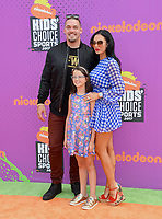 Derek Wolfe &amp; Family at Nickelodeon's Kids' Choice Sports 2017 at UCLA's Pauley Pavilion. Los Angeles, USA 13 July  2017<br /> Picture: Paul Smith/Featureflash/SilverHub 0208 004 5359 sales@silverhubmedia.com