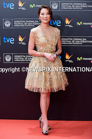 MICHELLE YEOH<br /> attends the 61st San Sebastian Film Festival at the Kursaal Palace, San Sebastian, Spain.<br /> Mandatory Credit Photo: &copy;NEWSPIX INTERNATIONAL<br /> <br /> **ALL FEES PAYABLE TO: &quot;NEWSPIX INTERNATIONAL&quot;**<br /> <br /> IMMEDIATE CONFIRMATION OF USAGE REQUIRED:<br /> Newspix International, 31 Chinnery Hill, Bishop's Stortford, ENGLAND CM23 3PS<br /> Tel:+441279 324672  ; Fax: +441279656877<br /> Mobile:  07775681153<br /> e-mail: info@newspixinternational.co.uk