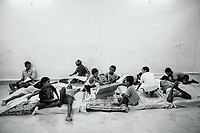 Students relax during their free time in the Sukma Football Academy boys' hostel. Sukma, Chattisgarh, India. Arindam Mukherjee