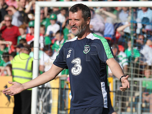 31.05.2016, Turners Cross Stadium, Cork, Ireland. International football friendly between republic of ireland and Belarus.  Roy Keane of Republic of Ireland  in joyful mood pre-game