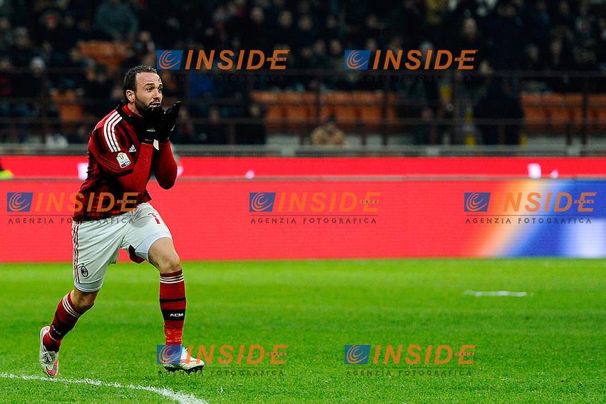 Giampaolo Pazzini Milan<br /> Milano 27-01-2015 Stadio Giuseppe Meazza - Football Calcio Coppa Italia Milan - Lazio. Foto Giuseppe Celeste / Insidefoto