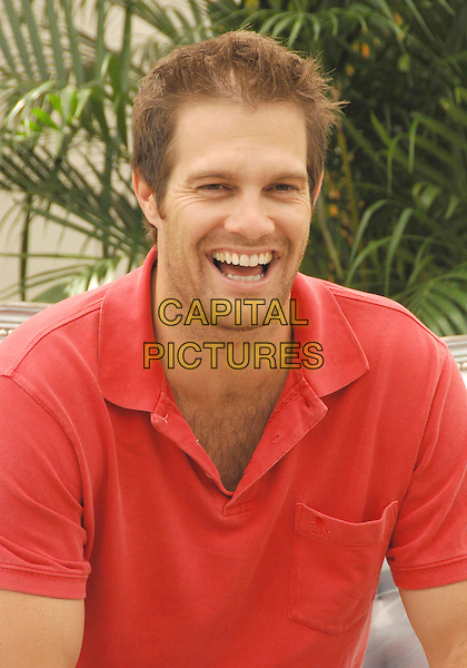 """GEOFF STULTS.attends a photocall promoting the television series """"October Road"""" on the third day of the 2008 Monte Carlo Television Festival held at Grimaldi Forum in Monte Carlo, Principality of Monaco, .June 10, 2008..half length red t-shirt .CAP/TTL .©TTL/Capital Pictures"""