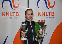 March 8, 2015, Netherlands, Rotterdam, TC Victoria, NOJK, winer girls 12 years Bente Spee <br /> Photo: Tennisimages/Henk Koster