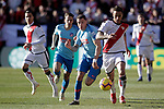Atletico de Madrid's Koke Resurreccion and Santiago Arias  and Rayo Vallecano's Oscar Trejo during La Liga match. February 16,2019. (ALTERPHOTOS/Alconada)