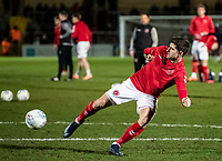 Fleetwood Town's Ched Evans warming up before the match <br /> <br /> Photographer Andrew Kearns/CameraSport<br /> <br /> The EFL Sky Bet League One - Wycombe Wanderers v Fleetwood Town - Tuesday 11th February 2020 - Adams Park - Wycombe<br /> <br /> World Copyright © 2020 CameraSport. All rights reserved. 43 Linden Ave. Countesthorpe. Leicester. England. LE8 5PG - Tel: +44 (0) 116 277 4147 - admin@camerasport.com - www.camerasport.com