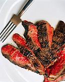 USA, California, Los Angeles, top view of Kobe steak at CUT Restaurant.