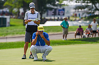 Rafael Cabrera Bello (ESP) lines up his putt on 9 during 4th round of the World Golf Championships - Bridgestone Invitational, at the Firestone Country Club, Akron, Ohio. 8/5/2018.<br /> Picture: Golffile | Ken Murray<br /> <br /> <br /> All photo usage must carry mandatory copyright credit (© Golffile | Ken Murray)