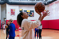 HOUSTON, TX - FEBRUARY 1: Lynn Williams #13 of the United States takes a shot at Houston Rockets Training Center on February 1, 2020 in Houston, Texas.