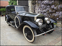 BNPS.co.uk (01202 558833)Pic: Charterhouse/BNPS<br /> <br /> An iconic Rolls-Royce that graced the silver screen alongside Robert Redford and Mia Farrow is expected to fetch &pound;140,000 at auction.<br /> <br /> The 1922 Rolls-Royce Silver Ghost was used as Daisy Buchanan's chauffeur-driven car in the 1974 classic The Great Gatsby and appears in-shot throughout the film alongside the leading actors.<br /> <br /> With bodywork made by coachbuilder Willoughby, who only made 30 bodies for the Silver Ghost, the car is very rare and in great condition.<br /> <br /> It has also racked up just 38,000 miles on the clock in its 93-year history.