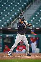 Scranton/Wilkes-Barre RailRiders Tyler Wade (9) at bat during an International League game against the Buffalo Bisons on June 5, 2019 at Sahlen Field in Buffalo, New York.  Scranton defeated Buffalo 4-0, the second game of a doubleheader.  (Mike Janes/Four Seam Images)