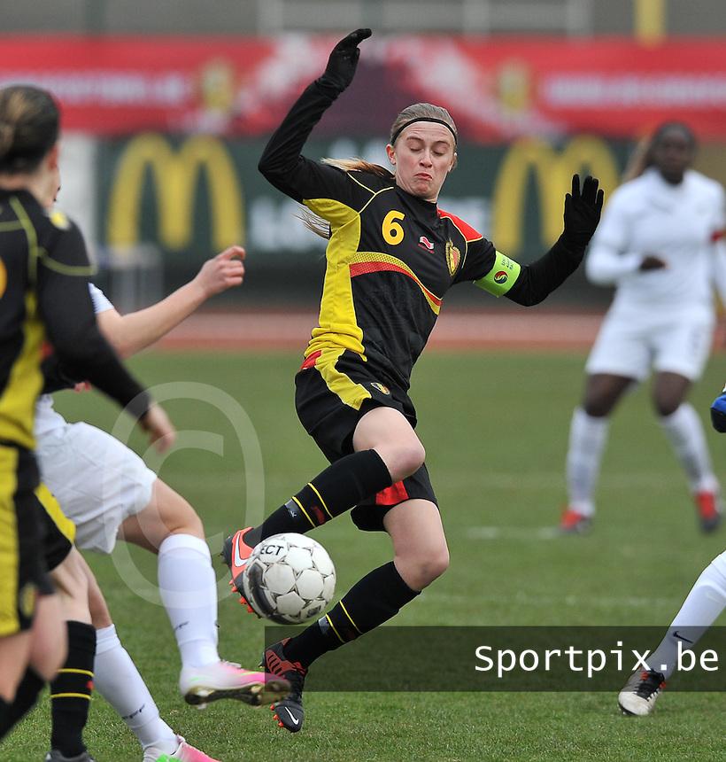 France U19 - Belgium U19 : Julie Biesmans.foto DAVID CATRY / Nikonpro.be