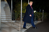 President Trump departs the White House en route to the World Economic Forum in Davos Switzerland