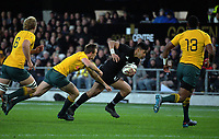 Rieko Ioane during the Rugby Championship and Bledisloe Cup rugby match between the New Zealand All Blacks and Australia Wallabies at Forsyth Barr Stadium in Dunedin, New Zealand on Saturday, 26 August 2017. Photo: Dave Lintott / lintottphoto.co.nz