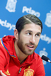 Spain's Sergio Ramos during comercial event after training session. March 21,2017.(ALTERPHOTOS/Acero)