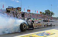 Jun. 2, 2012; Englishtown, NJ, USA: NHRA top fuel dragster driver Khalid Albalooshi during qualifying for the Supernationals at Raceway Park. Mandatory Credit: Mark J. Rebilas-