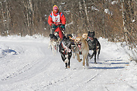 Musher Don Cousins, 2007 Open North American Championship sled dog race (the world's premier sled dog sprint race) is held annually in Fairbanks, Alaska.