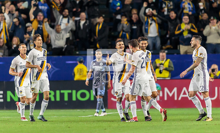 Carson, CA - Saturday February 10, 2018: The Los Angeles Galaxy defeated New York City FC 3-0 during a Major League Soccer (MLS) preseason exhibition match at StubHub Center.