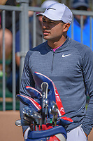 Julian Suri (USA) chats on the 10th tee during Round 4 of the Valero Texas Open, AT&amp;T Oaks Course, TPC San Antonio, San Antonio, Texas, USA. 4/22/2018.<br /> Picture: Golffile | Ken Murray<br /> <br /> <br /> All photo usage must carry mandatory copyright credit (&copy; Golffile | Ken Murray)