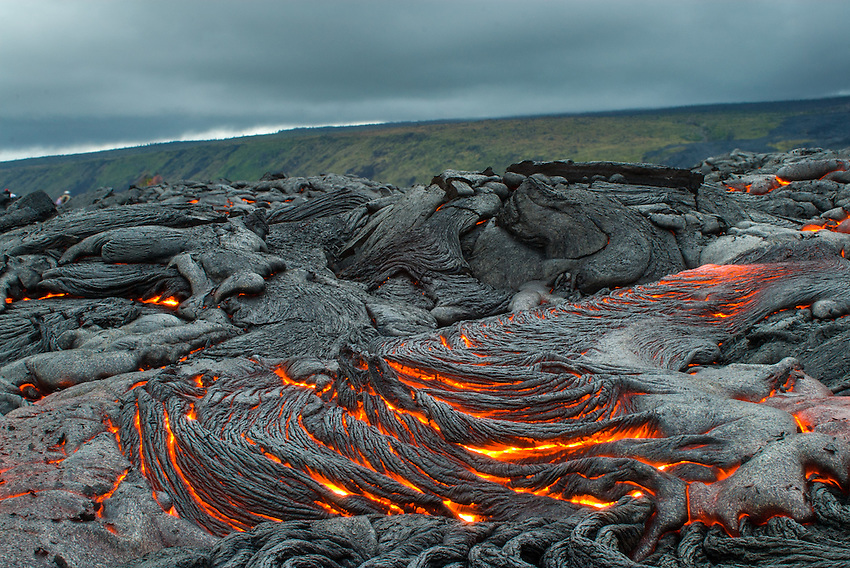 Pahehoe lava flows from Kilauea Volcano, Hawai`i Volcanoes National Park