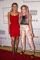 Turtle Bay Resort, North Shore, Oahu, Hawaii. (Tuesday December 6, 2016): Sage Erickson (USA) and Laura Enever (AUS) The annual Surfer Poll Awards were held tonight at the Turtle Bay Resort with the new world champion John John Florence (HAW) taking out the #1 spot on the Men's Reader Poll and Carissa Moore (HAW) #1 on the women's poll. Photo: joliphotos