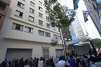 SÃO PAULO, SP, 12.06.2015 - HADDAD-SP - Prefeito de São Paulo Fernando Haddad inaugura o Conjunto Habitacional Iracema Euzébio na República, região central da cidade, neste domingo. (Foto: Yuri Alexandre/Brazil Photo Press)