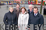 Members of the Listowel Independent Traders pictured last Tueday to promote their shop local promotion with specially commisioned vouchers to be used in the town, l-r: Jennifer Scanlan(Coco Boutique), Damien Stcak(Stack's Furniture & Carpets), Ita Healy(Everywoman Boutique), John Carroll(MJ Carroll Hardware) and Kevin O'Callaghan(Listowel Arm's Hotel)