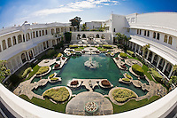 View of the gardens on the inside of the Taj Lake Palace, India. (Photo by Matt Considine - Images of Asia Collection)