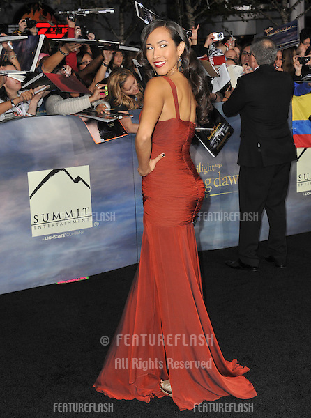 "Marisa Quinn at the world premiere of her movie ""The Twilight Saga: Breaking Dawn - Part 2"" at the Nokia Theatre LA Live..November 12, 2012  Los Angeles, CA.Picture: Paul Smith / Featureflash"