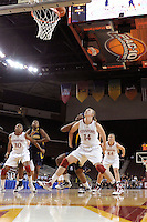 LOS ANGELES, CA - MARCH 13:  Kayla Pedersen during Stanford's 64-44 win over California in the Pac-10 Tournament at the Staples Center on March 13, 2010 in Los Angeles, California.