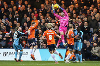 Matt Ingram of Wycombe Wanderers safely collects the ball during the Sky Bet League 2 match between Luton Town and Wycombe Wanderers at Kenilworth Road, Luton, England on 26 December 2015. Photo by David Horn.