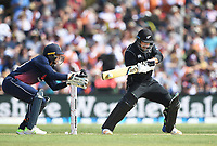 Colin de Grandhomme.<br /> New Zealand Blackcaps v England. 5th ODI International one day cricket, Hagley Oval, Christchurch. New Zealand. Saturday 10 March 2018. &copy; Copyright Photo: Andrew Cornaga / www.Photosport.nz
