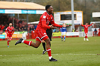 Ricardo German of Crawley Town celebrates his goal in the first half during Crawley Town vs Oldham Athletic, Sky Bet EFL League 2 Football at Broadfield Stadium on 7th March 2020