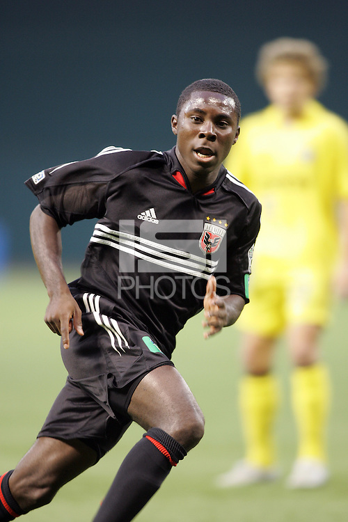 7 May 2005. DC United's Freddy Adu (9) sprints forward at RFK Stadium in Washington, DC.