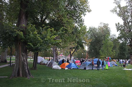 Occupy Salt Lake at Pioneer Park in Salt Lake City, Utah, Thursday, October 6, 2011.
